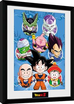Dragon Ball Z - Chibi Heroes Poster enmarcado