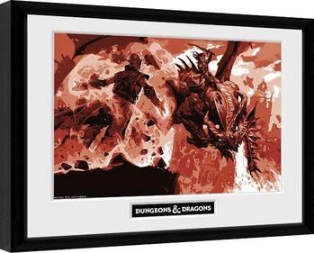 Dungeons & Dragons - Red Dragon Poster enmarcado