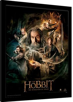 Poster enmarcado El Hobbit - One Sheet