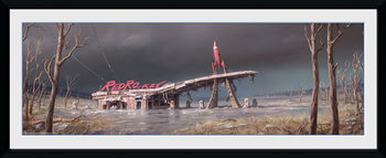 Fallout 4 - Red Rocket Poster enmarcado