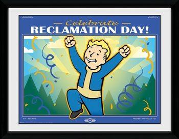 Fallout 76 - Reclamation Day Poster enmarcado