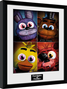 Five Nights at Freddys - Quad Poster enmarcado