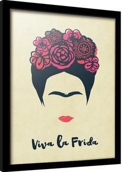 Frida Kahlo - Viva La Vida Poster enmarcado