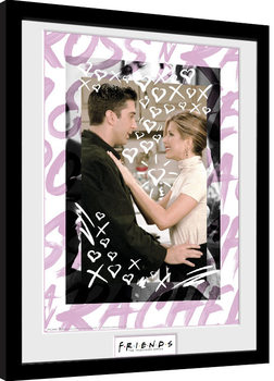 Friends - Ross and Rachel Poster enmarcado