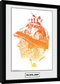 Full Metal Jacket - A Day Without Blood Poster enmarcado