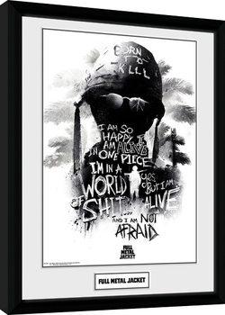 Full Metal Jacket - I Am Not Afraid Poster enmarcado
