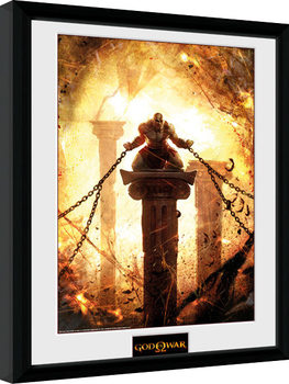 God of War - Kratos Chained Poster enmarcado