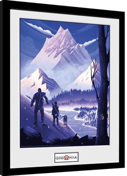 God Of War - Mountain Poster enmarcado