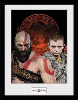 God Of War - Portraits Poster enmarcado