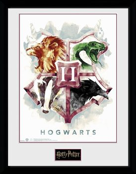 Harry Potter - Hogwarts Water Colour Poster enmarcado