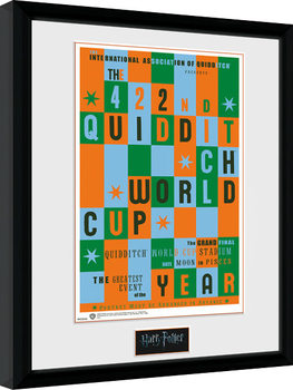 Harry Potter - Quidditch World Cup Poster enmarcado