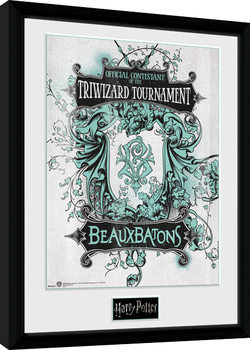 Harry Potter - Triwizard Beaux Batons Poster enmarcado