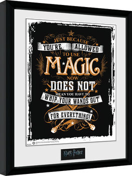 Harry Potter - Wands Out Poster enmarcado