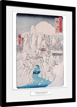 Hiroshige - Mount Haruna In Snow Poster enmarcado