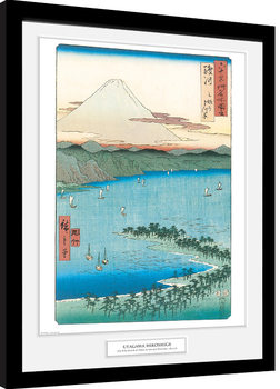 Poster enmarcado Hiroshige - The Pine Beach At Miho