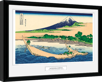 Hokusai - Shore of Tago Bay Poster enmarcado