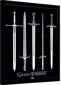 Juego de Tronos - Swords Poster enmarcado