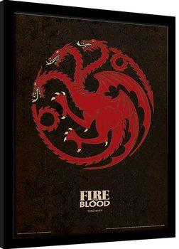 Juego de Tronos - Targaryen Poster enmarcado