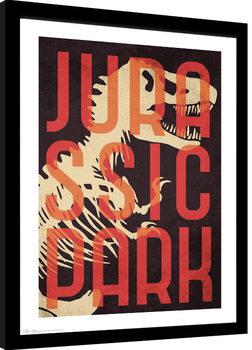 Jurassic Park - Skeleton Poster enmarcado