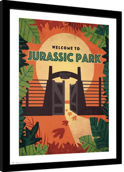 Poster enmarcado Jurassic Park - Welcome