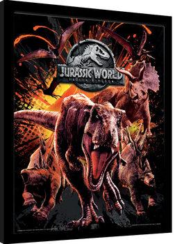 Jurassic World: El Reino Caíd - Montage Poster enmarcado