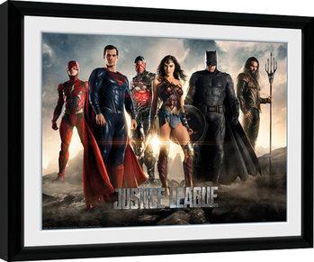 La Liga de la Justicia- Characters Poster enmarcado