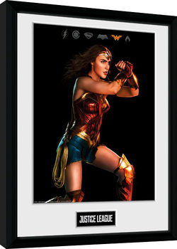La Liga de la Justicia- Movie Wonder Woman Poster enmarcado