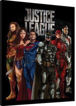 La Liga de la Justicia- Stand Tall Poster enmarcado