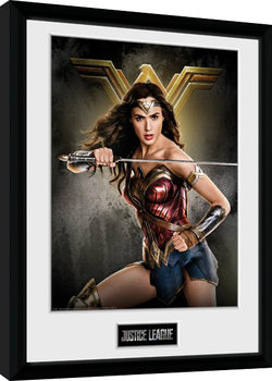 La Liga de la Justicia- Wonder Woman Solo Poster enmarcado