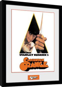 Poster enmarcado La naranja mecánica - Key Art White