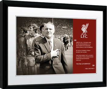 Liverpool - Shankly Quote Print Poster enmarcado