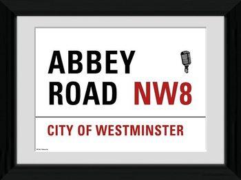 London - Abbey Road Poster enmarcado