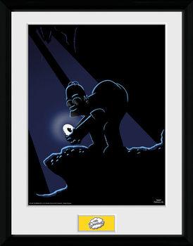 Los Simpson - Gollum Poster enmarcado
