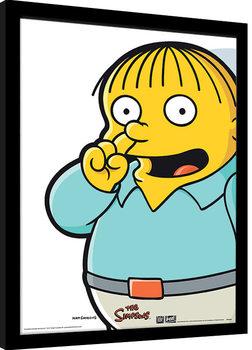 Los Simpson - Ralph Pick Poster enmarcado