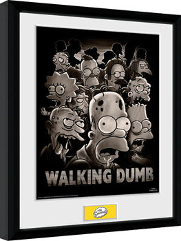 Los Simpson - The Walking Dumb Poster enmarcado