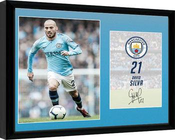 Manchester City - Silva 18-19 Poster enmarcado