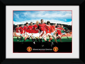Manchester United - Legends Poster enmarcado