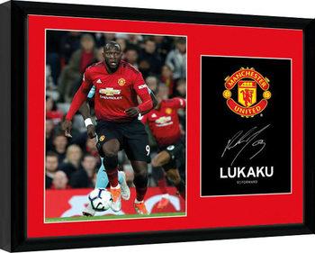 Manchester United - Lukaku 18-19 Poster enmarcado