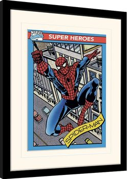 Marvel Comics - Spider-Man Trading Card Poster enmarcado