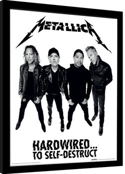 Poster enmarcado Metallica - Hardwired Band