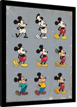 Mickey Mouse - Evolution Poster enmarcado