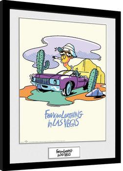 Miedo y asco en Las Vegas - Illustration Poster enmarcado
