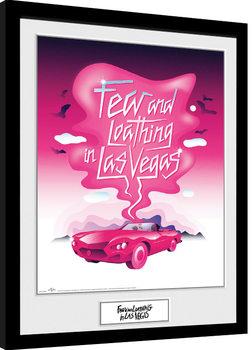 Poster enmarcado Miedo y asco en Las Vegas - Pink Art