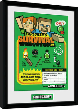 Minecraft - Survival Kit Poster enmarcado
