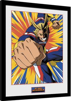 My Hero Academia - All Might Action Poster enmarcado