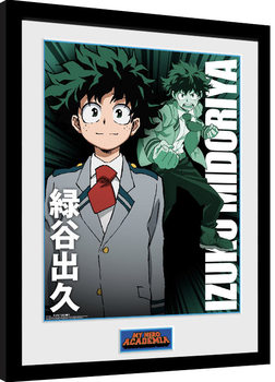 My Hero Academia Poster enmarcado