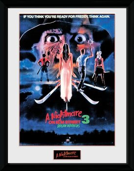 Nightmare On Elm Street -Dream Warriors Poster enmarcado