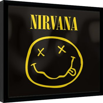 Nirvana - Smiley Poster enmarcado