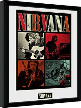 Nirvana - Squares Poster enmarcado