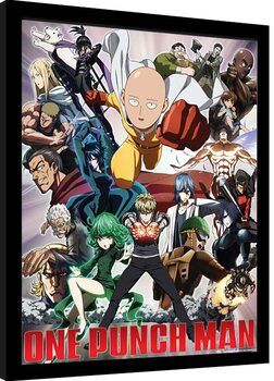 Poster enmarcado One Punch Man - Heroes And Villains